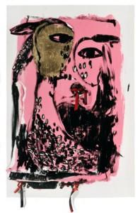 Khen Shish  2014,acryiic on paper, 107x72 cm