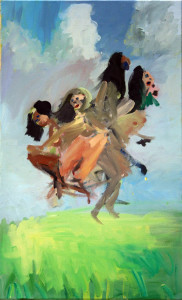 flying women 80 x 49