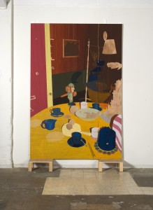 Nutcracker, 2007, oil on plywood, 244x160cm (Berlin) zoom out