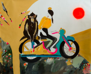 Monkey_acrylic, spray and industrial colors on canvas_140x172cm_2014